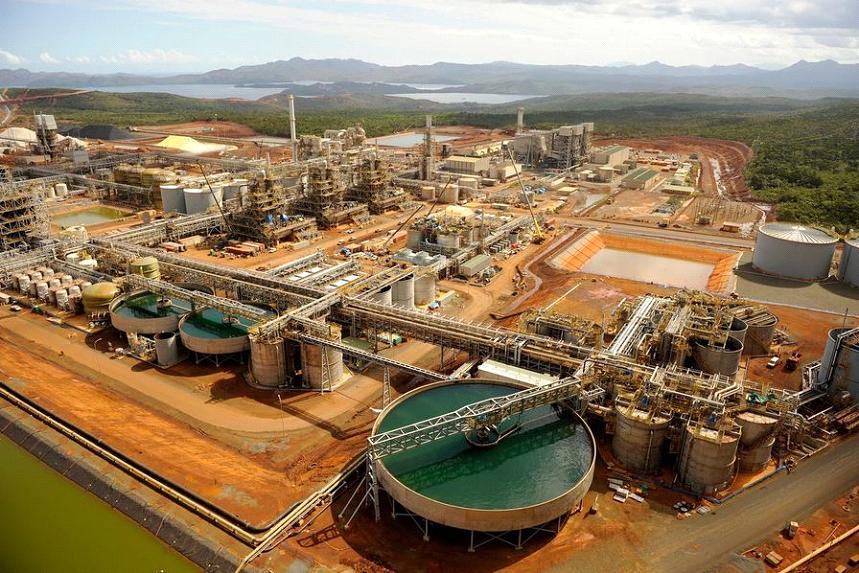 Usine hydrométallurgique de nickel à Goro dans le Sud de la Nouvelle-Calédonie Vale Agency