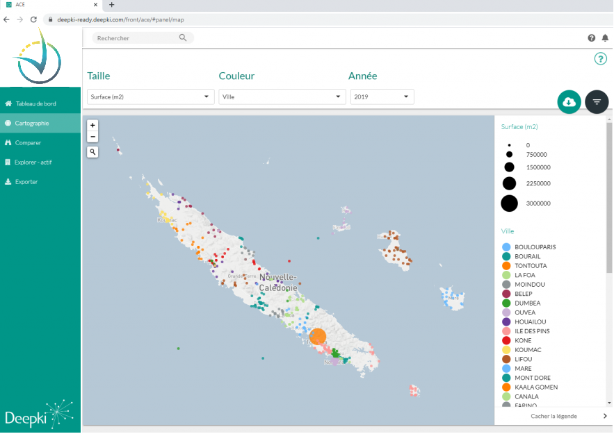 Tableau de bord Deepki acquisition de données